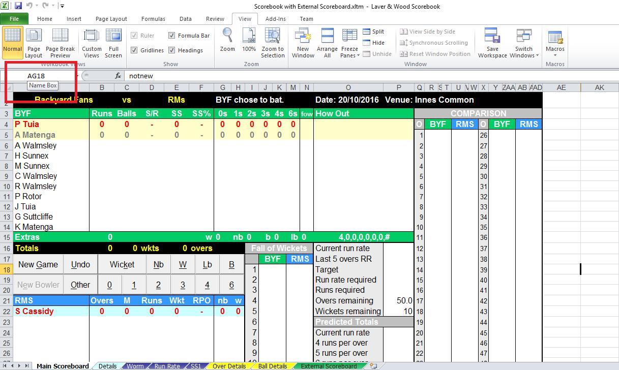 excel scorebook integration  optional