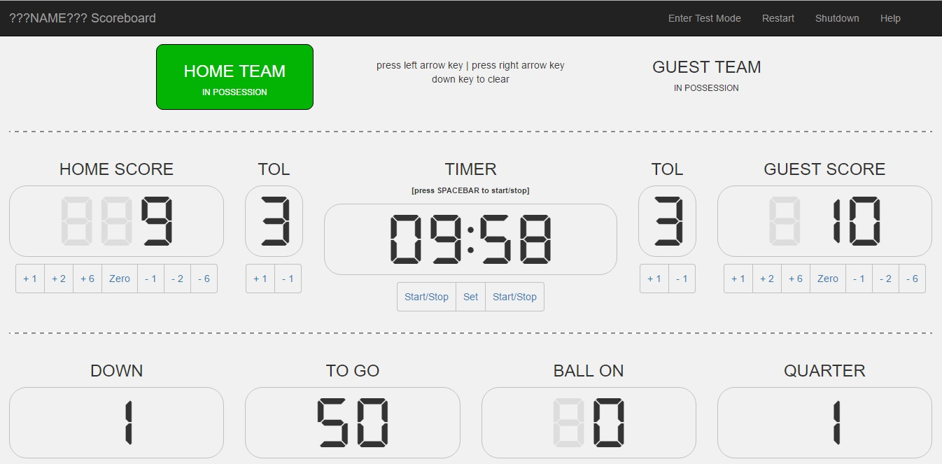 Ls Eagles American Football Build Your Own Scoreboard Circuit I Spent A Couple Of Hours Writing The Scoreboardphp File To Handle Interface Output And Also New Sketch Power All Extra Lamps Even