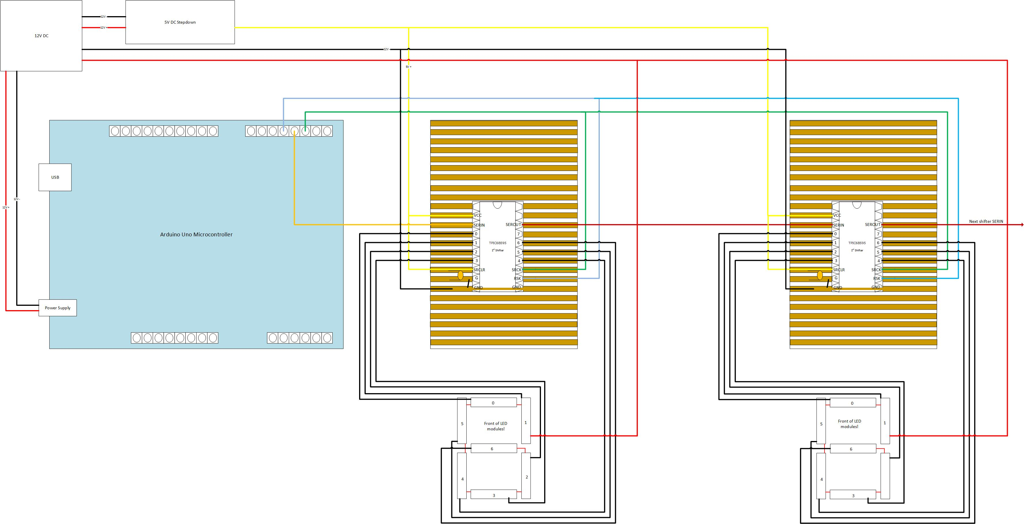 12v Led Module Wiring Diagram Diagrams Creating And Testing The Electronics Build Your Own Scoreboard Homes